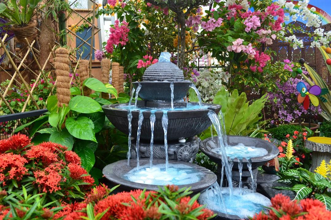 fontaine d'extérieur